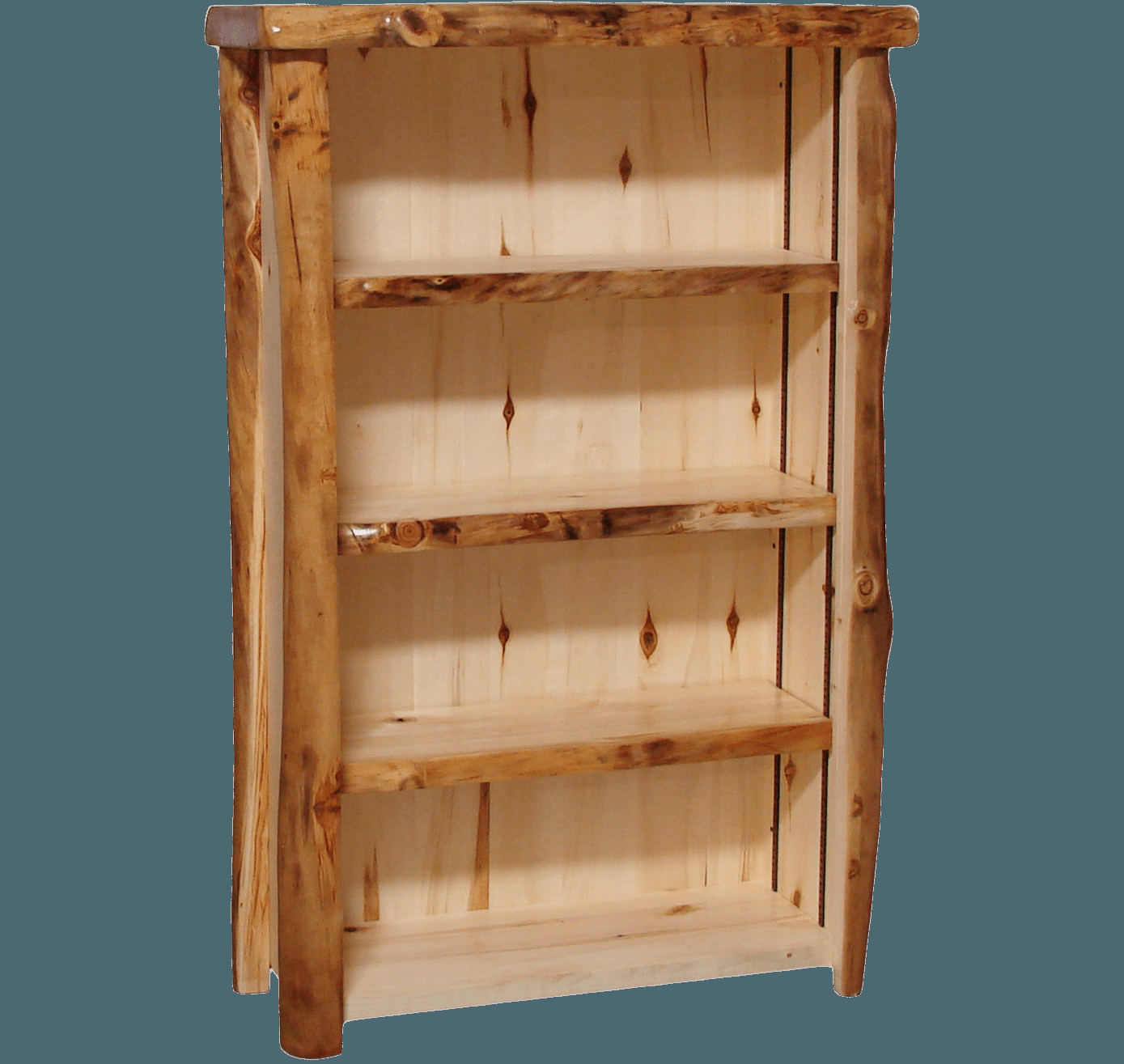 Aspen Log 60 Inch Tall Bookcase inside measurements 1389 X 1315