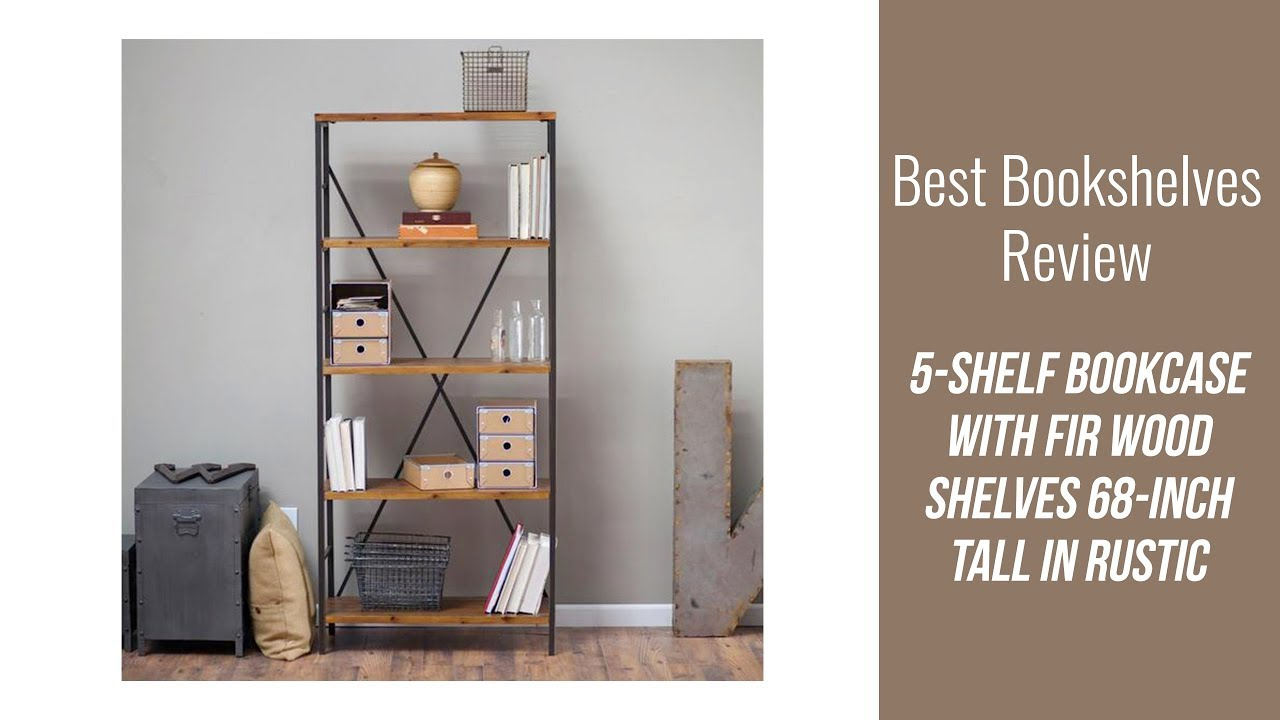 Bookcase Review 5 Shelf Bookcase With Fir Wood Shelves 68 in dimensions 1280 X 720