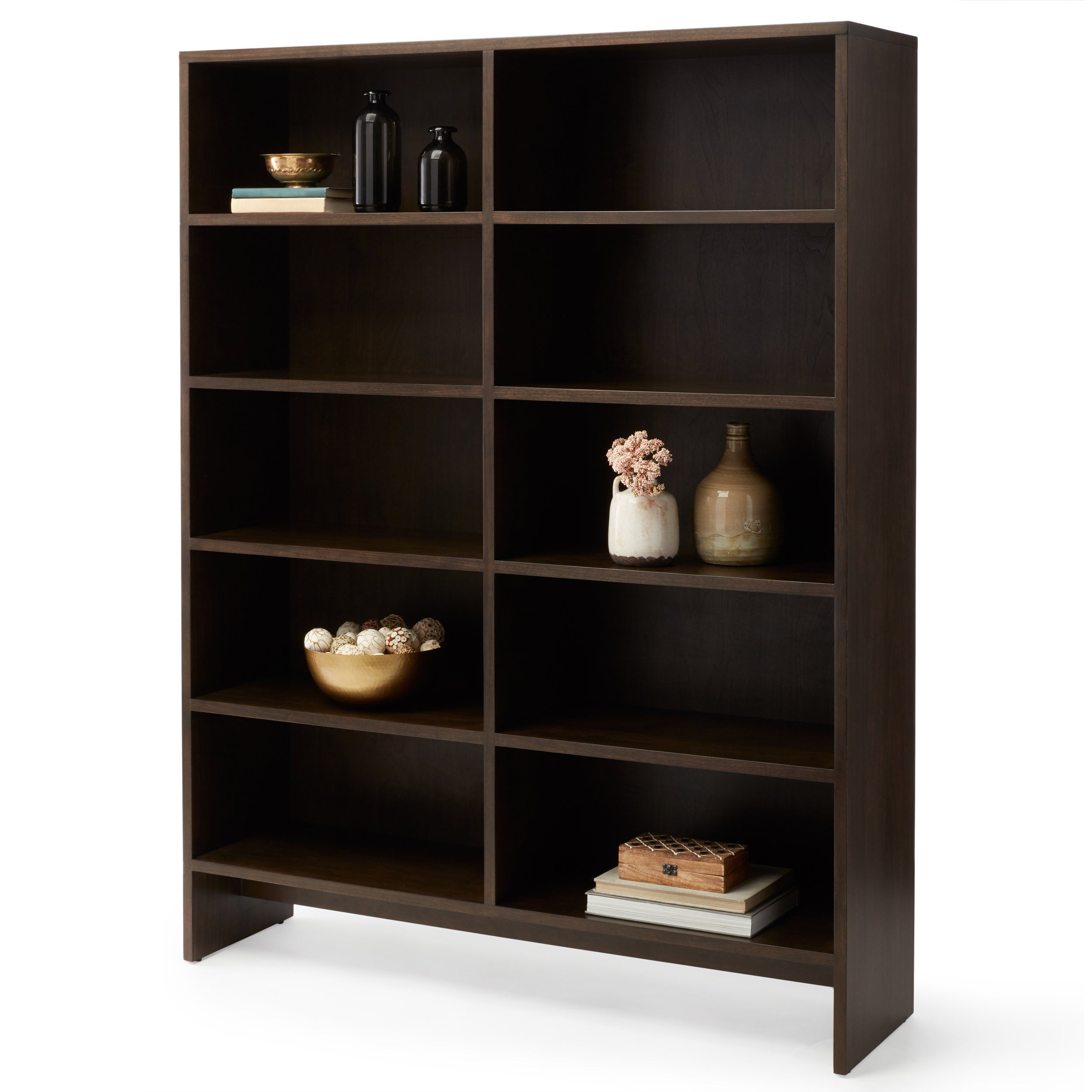 Calvin Klein Warren Tall Bookcase Dark Walnut intended for proportions 2500 X 2500