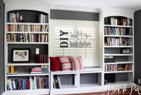 Diy Built In Bookshelves Maison De Pax with regard to proportions 1600 X 1135