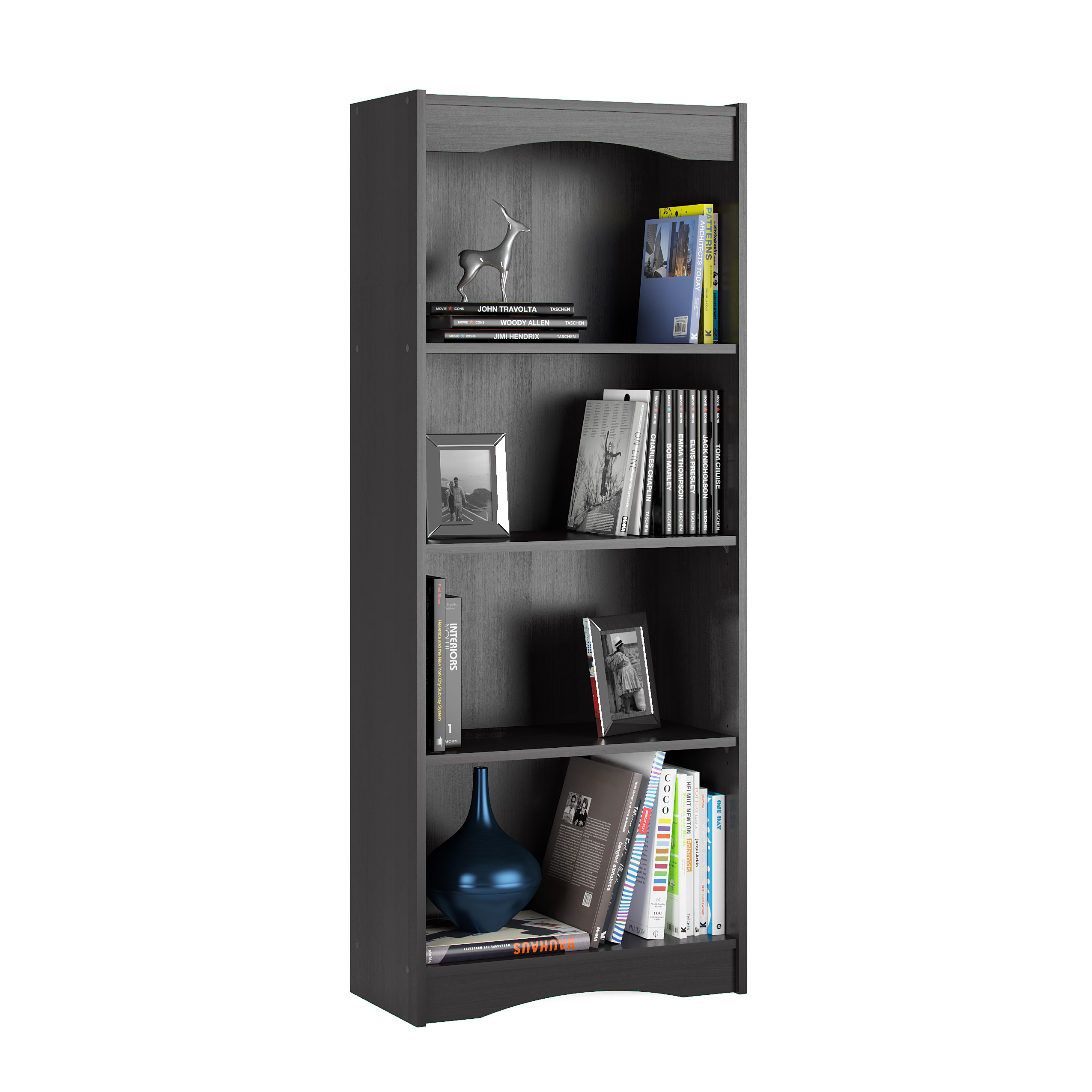 Hawthorn 60 Tall Adjustable Bookcase Walmart intended for dimensions 2550 X 2550