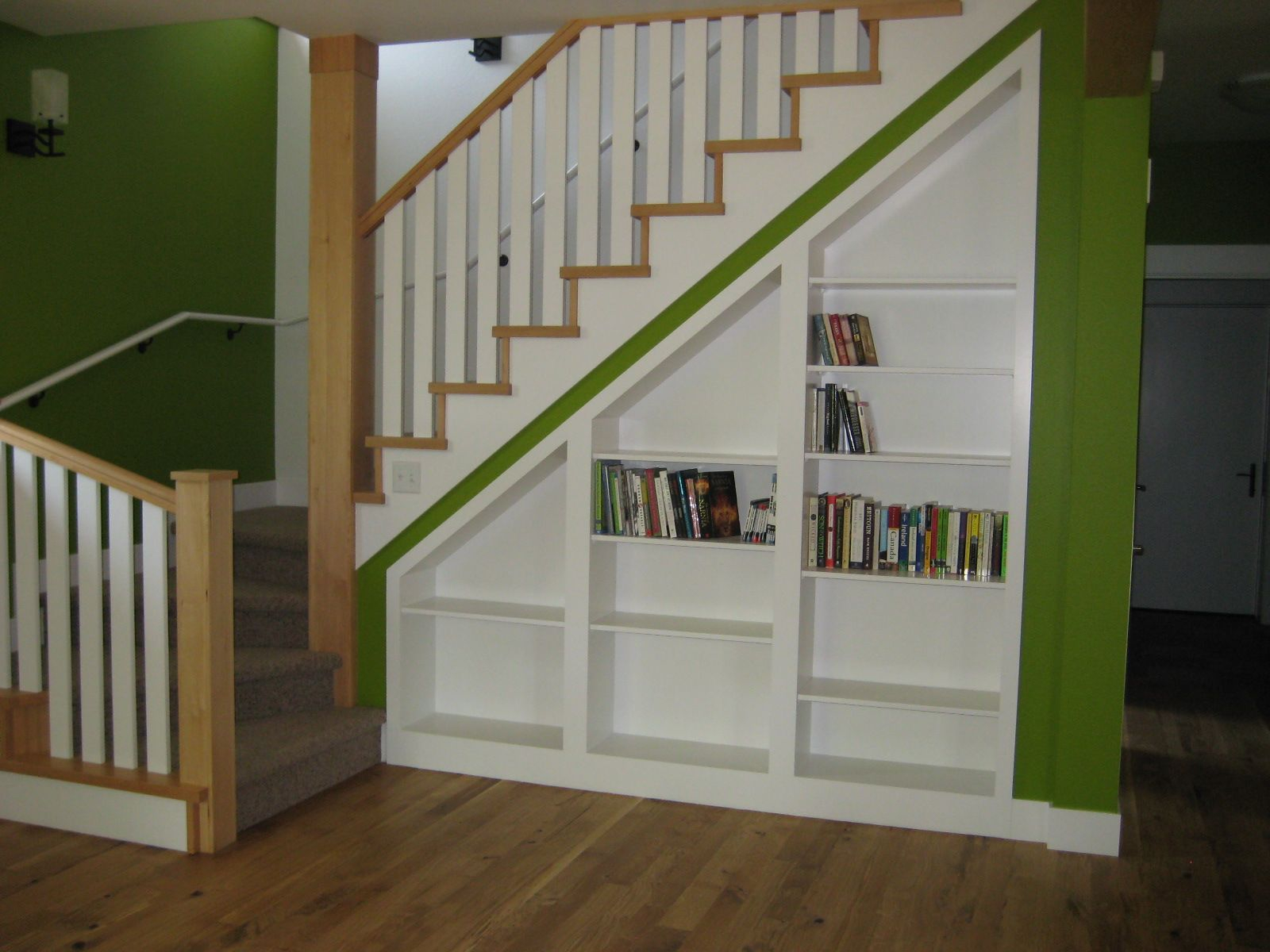 Mural Of Built In Cabinet Ideas Stairs In Living Room within sizing 1600 X 1200