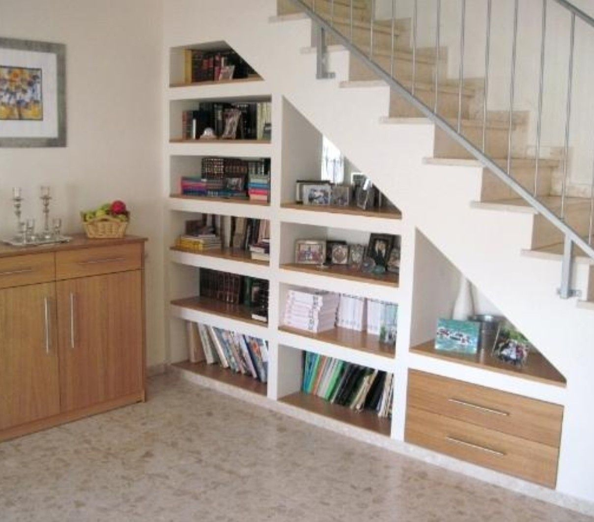 Pin Lofly On Hallway Stair Bookshelf Under Basement within size 1209 X 1062