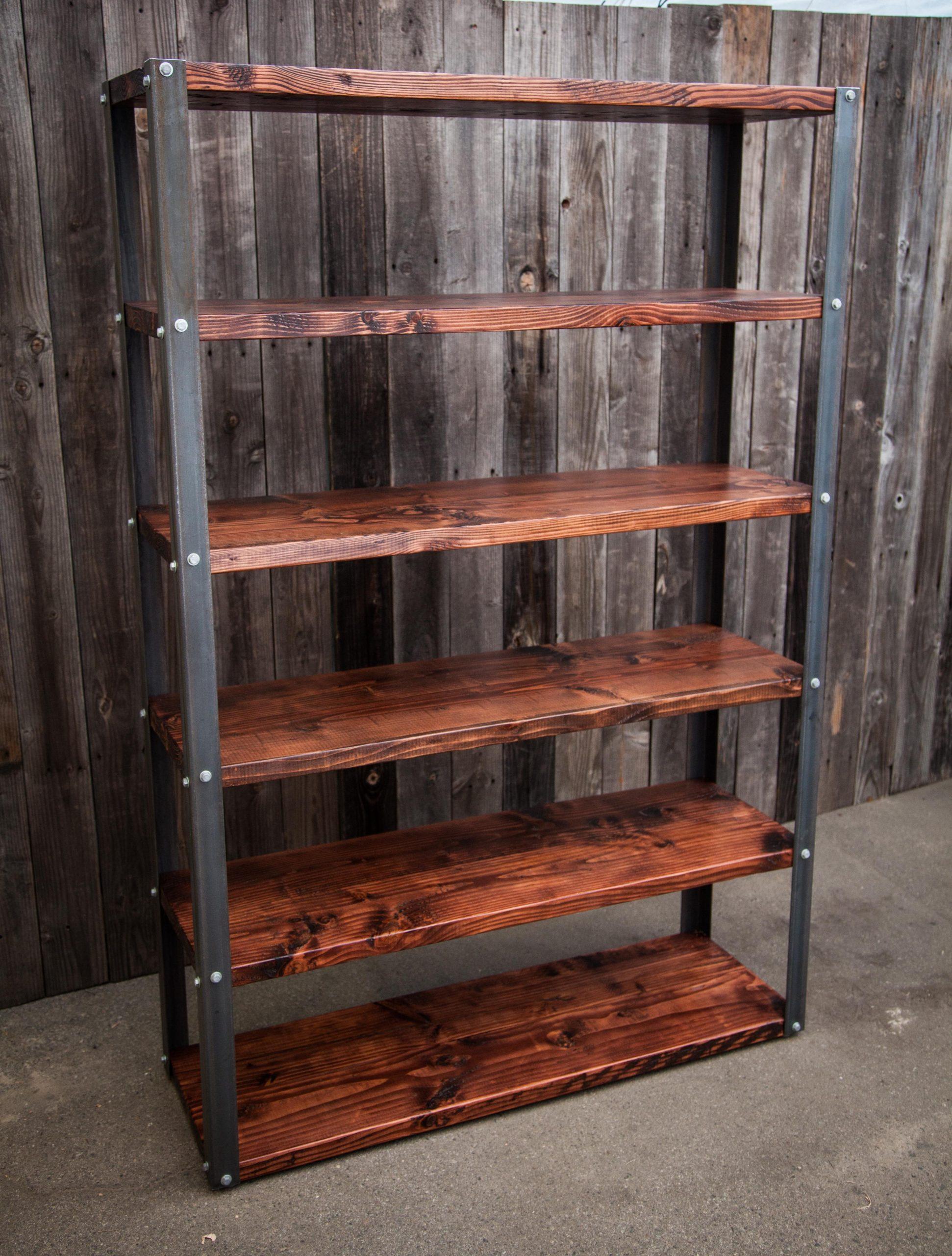 Rustic Bookshelf Woodduo in dimensions 3744 X 4935
