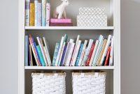 Simple Pretty Bookshelf Styling In A Girls Room Kids Room within sizing 3366 X 5558