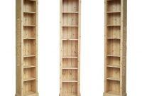 Solid Pine Or Oak 7ft Tall Narrow Slim Jim Bookcase Tall in dimensions 1024 X 768