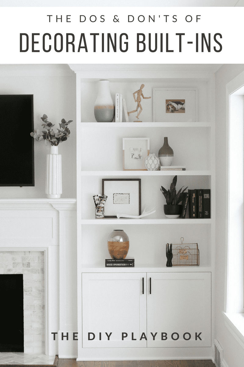 The Dos And Donts Of Decorating Built In Shelves The Diy throughout sizing 800 X 1200