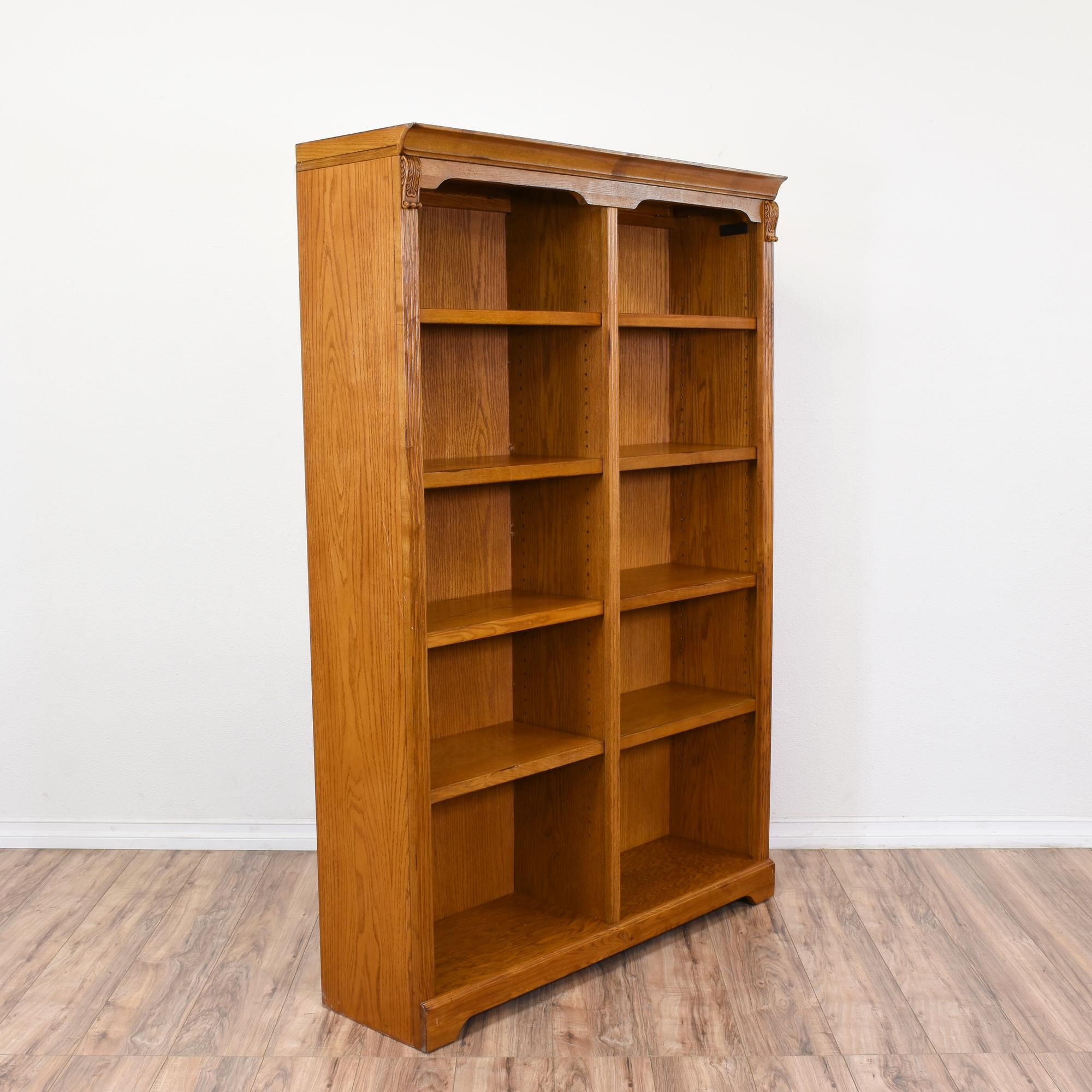 This Large Bookcase Is Featured In A Solid Wood With A for sizing 2000 X 2000