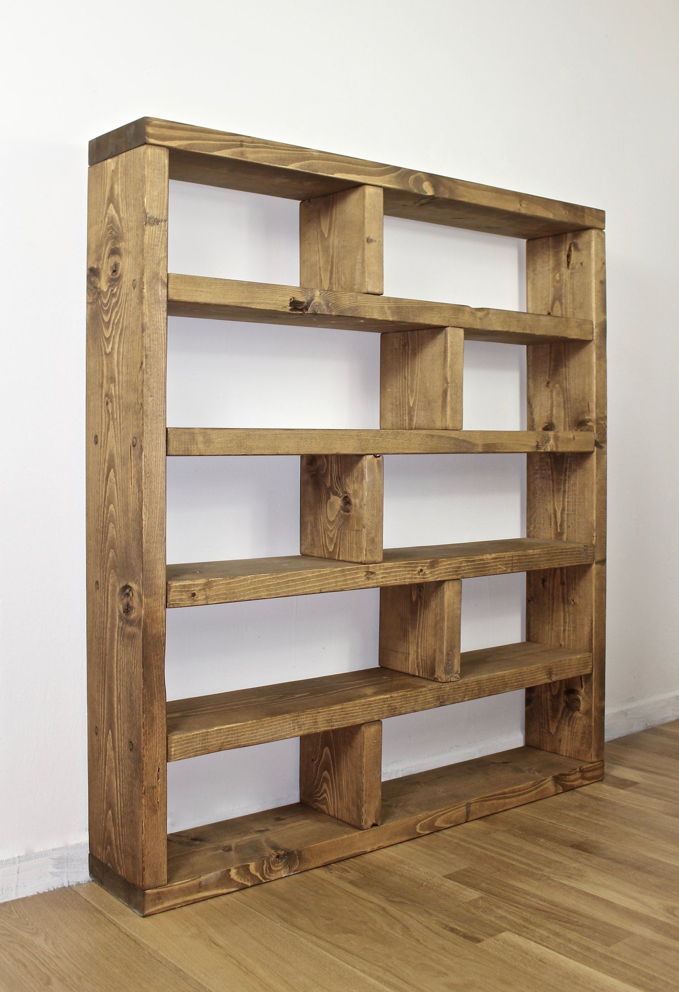 Union Rustic Ehrlich Bookcase In 2020 Rustic Shelves pertaining to sizing 1369 X 2000