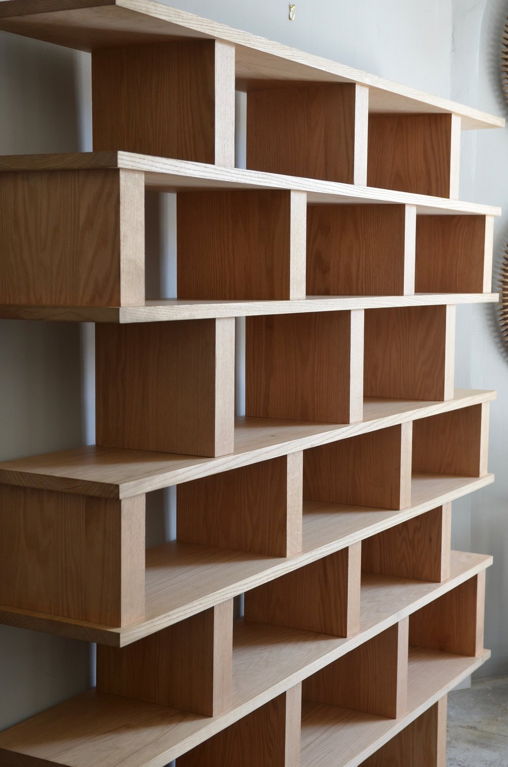Verticale Solid Oak Shelving Unit Blend Interiors intended for proportions 1000 X 1510