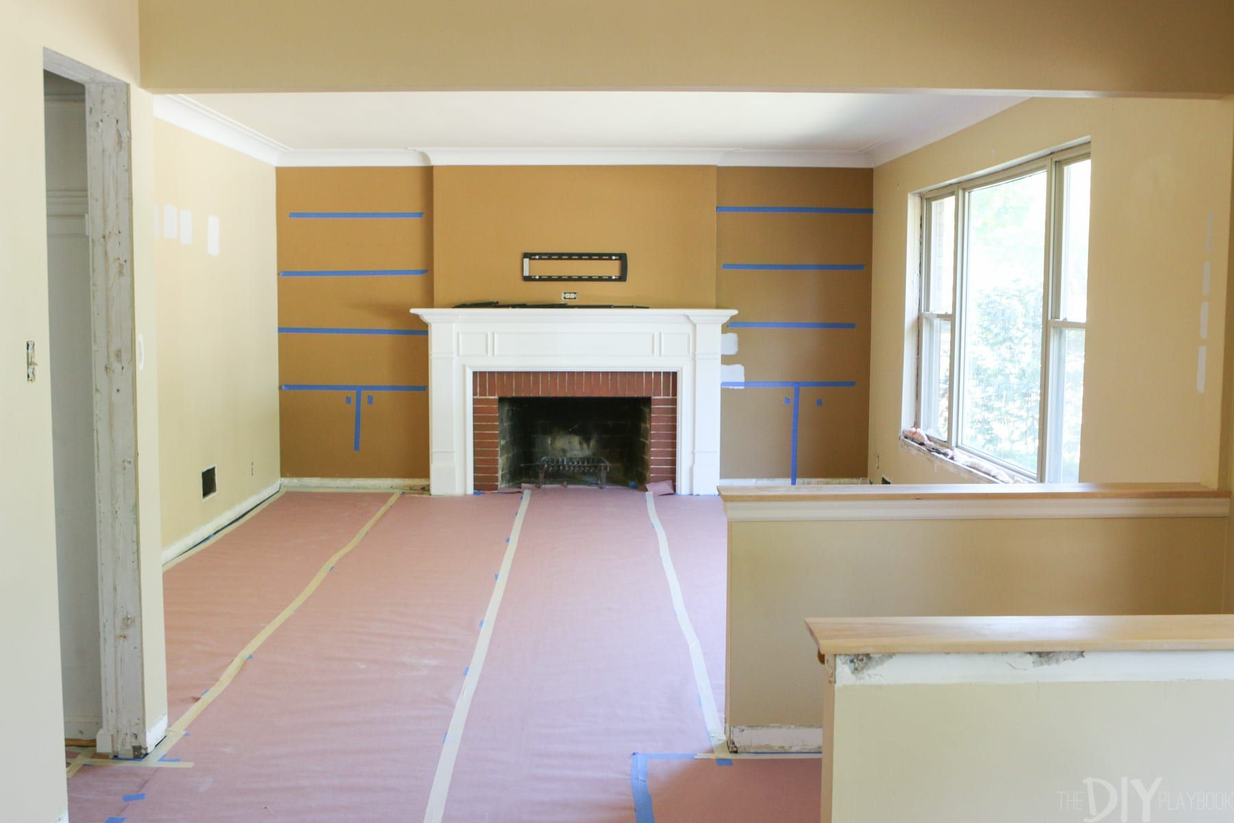 White Built Ins Around The Fireplace Before And After regarding sizing 1800 X 1200
